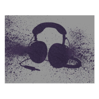 Exploding Headphones Postcard