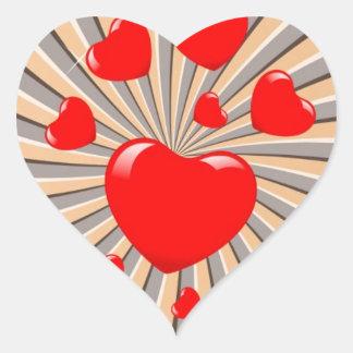 Exploding Hearts Heart Sticker