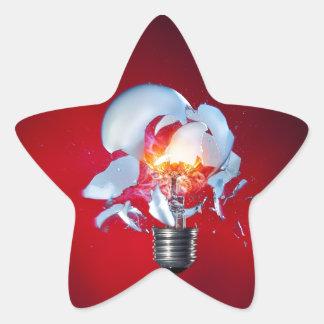 Exploding Lightbulb Star Sticker