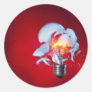 Exploding Lightbulb Sticker