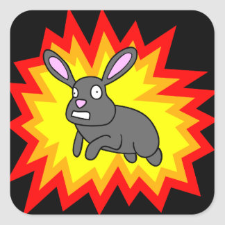 Exploding Rabbit Stickers