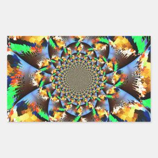 Exploding Rectangular Sticker