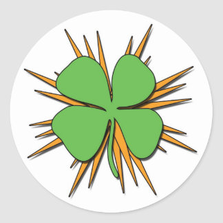 Exploding Shamrock Stickers
