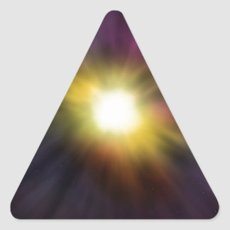 Exploding Star Digital Space Artwork Triangle Stickers