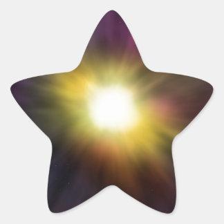 Exploding Star Digital Space Artwork Stickers