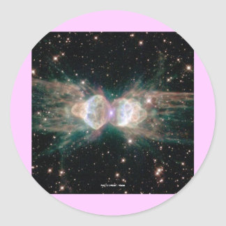 Exploding Star Round Sticker