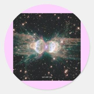 Exploding Star Round Sticker