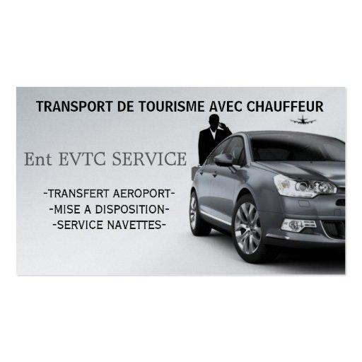 Create your own chauffeur business cards exploitant de voitures de tourisme avec chauffeur cartes de visite personnelles colourmoves