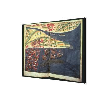 Exploration map of Surat Canvas Print