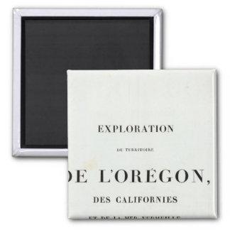 Exploration of Oregon 3 Square Magnet