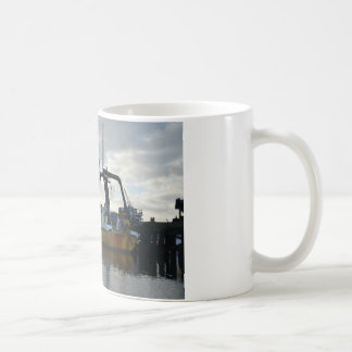 Exploration ship at dawn. coffee mug