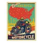 Explore America By Motorcycle Postcard