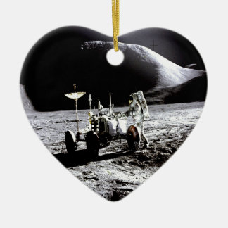 Explore and success moon rover astronaut nasa christmas ornament