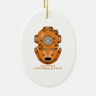 Explore Another World (Deep Diving Helmet) Christmas Ornament