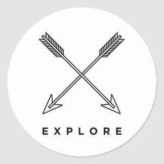 Explore Classic Round Sticker