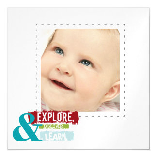 """""""explore discover learn""""   photo thin magnets magnetic invitations"""