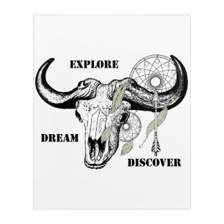 Explore Dream Discover Acrylic Wall Art