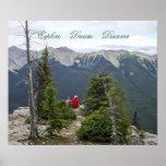 Explore Dream Discover Scenic Mountain-View Poster