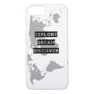 Explore Dream Discover World Map iPhone 7 Case