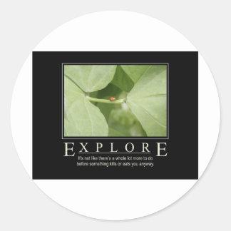 Explore_Garden Series1 Round Sticker
