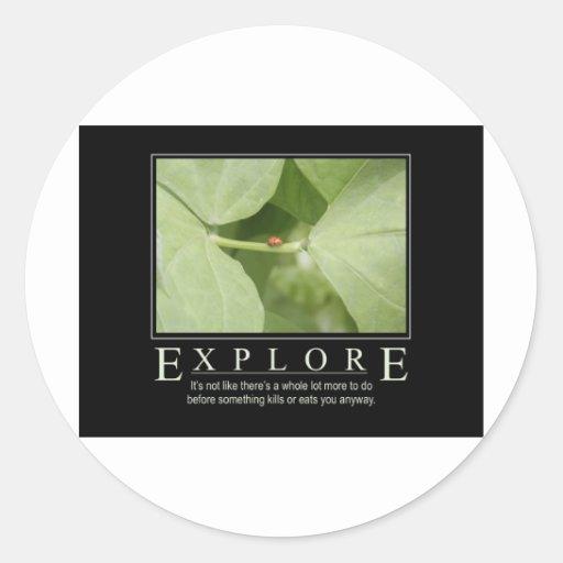 Explore_Garden Series1 Round Stickers