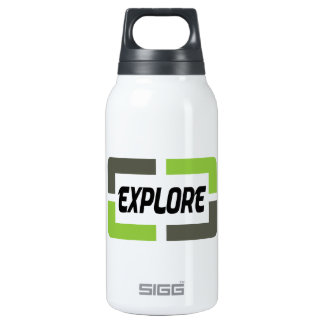 Explore (green) insulated water bottle