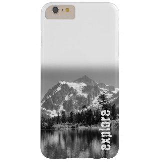 """Explore"" iphone case black and white"