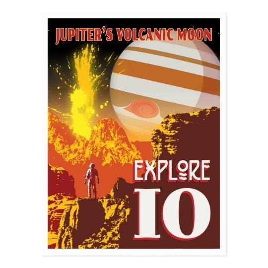 Explore Jupiter's Volcanic Moon Io Postcard