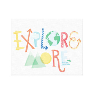 Explore More - Children's Canvas Art