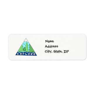 Explore Nature Outdoors Wilderness Mountains Return Address Label