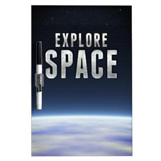 Explore Space Dry Erase Board