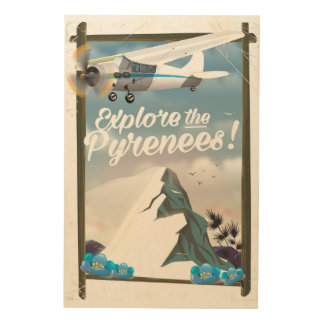 Explore the Pyrenees European mountains. Wood Print