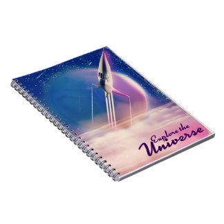 Explore the Universe Vintage space poster Notebooks