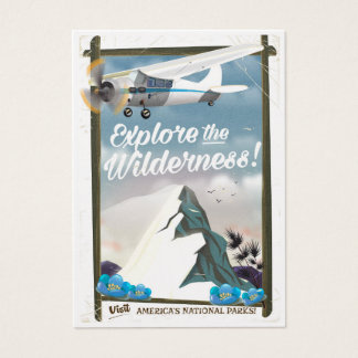 Explore the Wilderness! Mountains Edition. Business Card