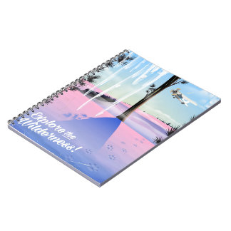 Explore the wilderness! Winter animal prints Notebooks