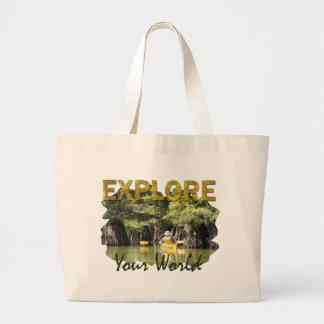 Explore Your World Jumbo Tote Bag