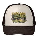 Explore Your World Trucker Hats