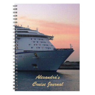 Explorer at Evening Personalized Cruise Journal Note Books