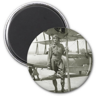 Explorer Byrd and Seaplane: early 1900s 6 Cm Round Magnet