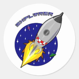 Explorer Classic Round Sticker