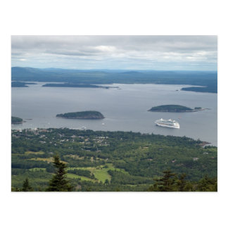 Explorer of the Seas in from Acadia National Park Postcard