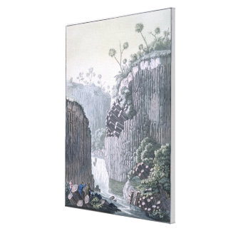 Explorers with Humboldt's Expedition in the Basalt Stretched Canvas Prints