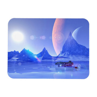 Exploring an Ice Planet Sci-Fi Art Magnet