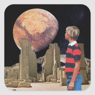 Exploring the Ancient Place Square Sticker
