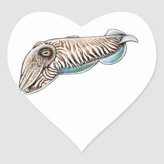 EXPLORING THE REEF HEART STICKER