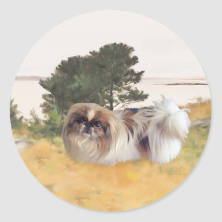 Exploring the Shore Round Sticker