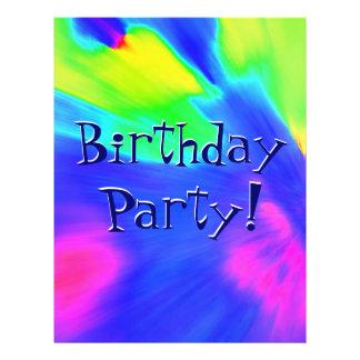 Explosion Birthday Party 21.5 Cm X 28 Cm Flyer
