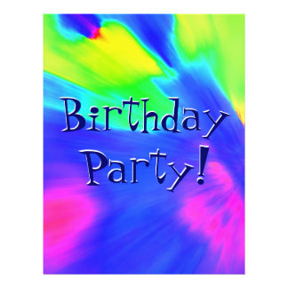 Explosion Birthday Party Personalized Flyer