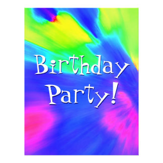 Explosion Birthday Party I Full Color Flyer