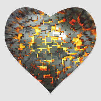 Explosion Heart Stickers